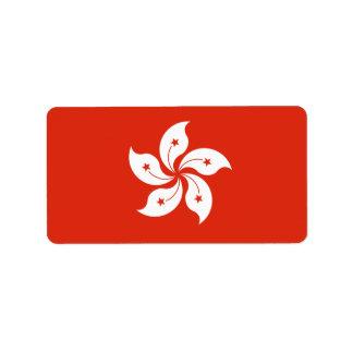 Bandera de las etiquetas de Hong Kong Etiqueta De Dirección