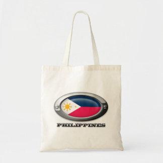Bandera de las Filipinas en el marco de acero Bolsa Tela Barata