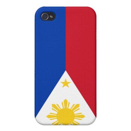 Bandera de las Filipinas iPhone 4 Protectores