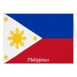 Bandera de las Filipinas Tarjetón