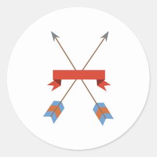 Bandera de las flechas pegatina redonda