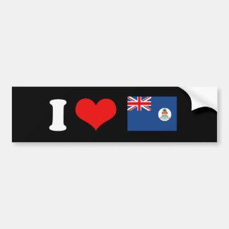 Bandera de las Islas Caimán Etiqueta De Parachoque