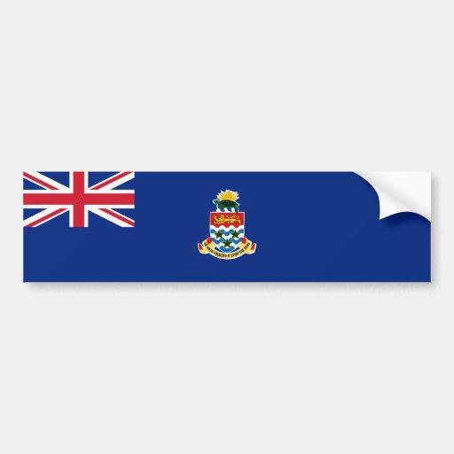 Bandera de las Islas Caimán. Gran Bretaña, de ultr Pegatina De Parachoque