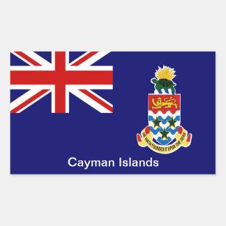 Bandera de las Islas Caimán Pegatina Rectangular