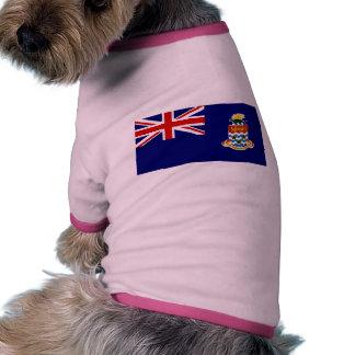 Bandera de las Islas Caimán Camiseta De Mascota