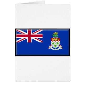Bandera de las Islas Caimán Tarjetón