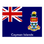 Bandera de las Islas Caimán Tarjeta Postal