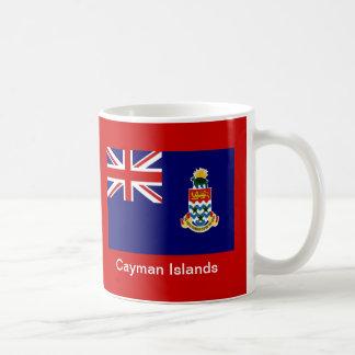 Bandera de las Islas Caimán Taza Básica Blanca