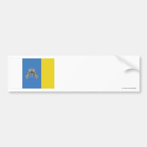 Bandera de las islas Canarias Etiqueta De Parachoque
