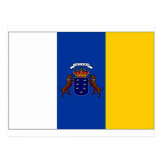 Bandera de las islas Canarias de España Postales