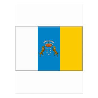 Bandera de las islas Canarias (España) Postales