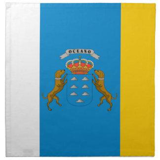 Bandera de las islas Canarias (España) Servilleta Imprimida