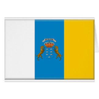 Bandera de las islas Canarias (España) Tarjeta De Felicitación