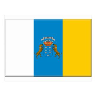 Bandera de las islas Canarias (España) Tarjeta Postal