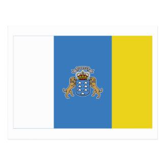 Bandera de las islas Canarias Postales