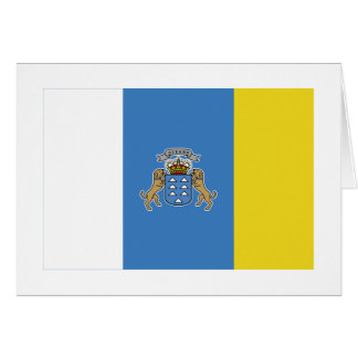 Bandera de las islas Canarias Tarjeta De Felicitación