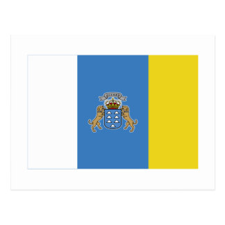 Bandera de las islas Canarias Tarjeta Postal