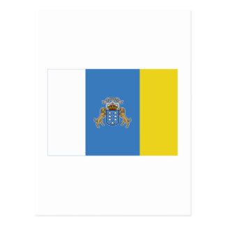 Bandera de las islas Canarias Tarjetas Postales
