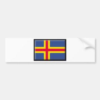 Bandera de las islas de Aland Pegatina Para Auto