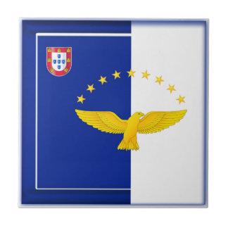 Bandera de las islas de Azores Azulejo Cuadrado Pequeño