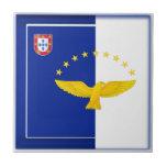 Bandera de las islas de Azores Azulejos Cerámicos