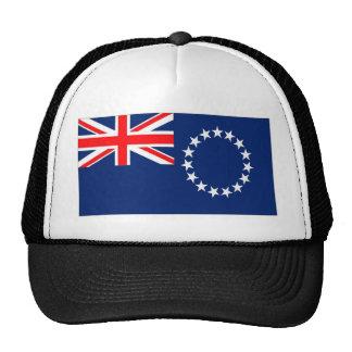 Bandera de las islas de cocinero gorro de camionero