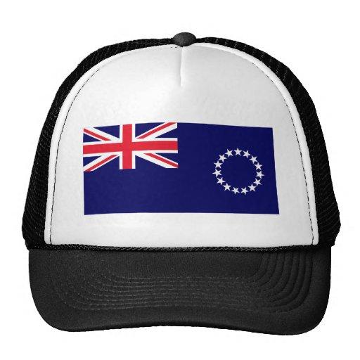 Bandera de las islas de cocinero gorras
