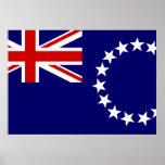 Bandera de las islas de cocinero impresiones