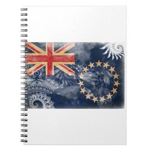 Bandera de las islas de cocinero libreta espiral
