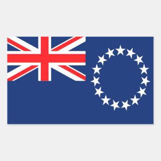 Bandera de las islas de cocinero rectangular pegatina