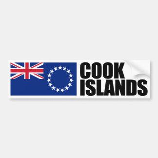 Bandera de las islas de cocinero pegatina para auto
