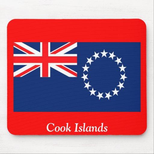 Bandera de las islas de cocinero tapete de ratones