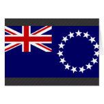 Bandera de las islas de cocinero tarjeta