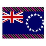 Bandera de las islas de cocinero tarjeta postal