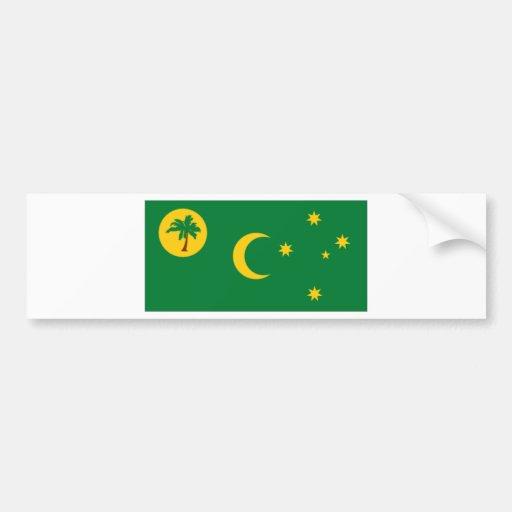 Bandera de las islas de Cocos Pegatina De Parachoque