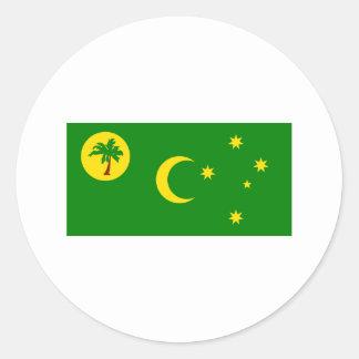 Bandera de las islas de Cocos Pegatinas Redondas
