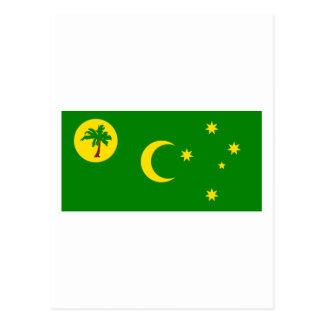Bandera de las islas de Cocos Postal
