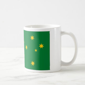 Bandera de las islas de Cocos Taza Básica Blanca