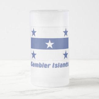 Bandera de las islas de Gambier con nombre Taza De Cristal