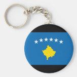 Bandera de las islas de Kosovo Llavero Redondo Tipo Pin