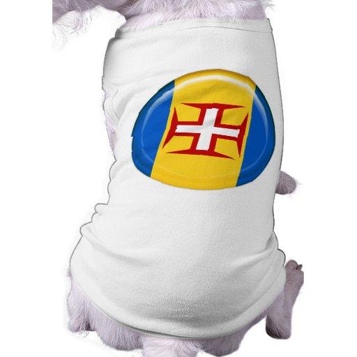 Bandera de las islas de Madeira Camiseta De Perro
