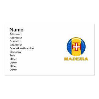 Bandera de las islas de Madeira Tarjetas Personales
