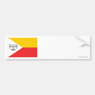Bandera de las islas de Marquesas Pegatina Para Auto