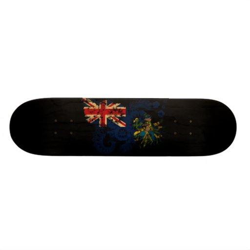 """Bandera de las islas de Pitcairn Patineta 8 1/8"""""""