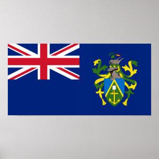 Bandera de las islas de Pitcairn Póster