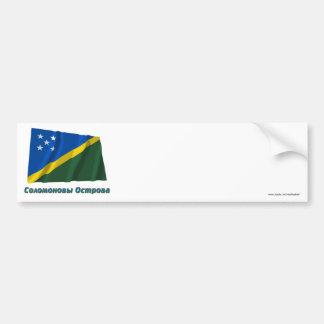 Bandera de las islas de Solomion que agita con Pegatina Para Auto