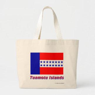 Bandera de las islas de Tuamotu con nombre Bolsa