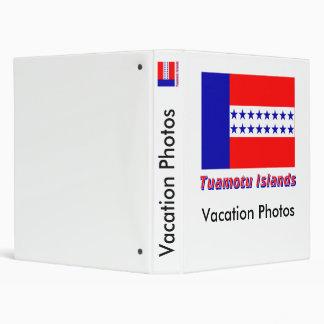 Bandera de las islas de Tuamotu con nombre Carpeta 2,5 Cm