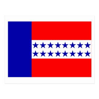 Bandera de las islas de Tuamotu Postal