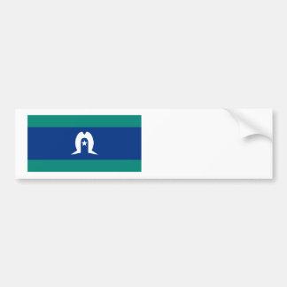 Bandera de las islas del estrecho de Torres Pegatina Para Auto